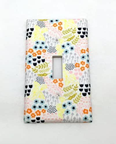 Amazon.com: Flower Garden Fabric Covered Single Light Switch cover / Switch Plate / Kids
