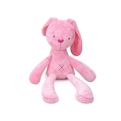 5e14cae0b Amazon.com  PAWACA Baby Doll Toys Soft Lovely Rabbit Flannel Doll ...