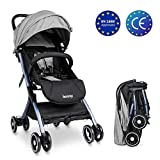 Lightweight Stroller Buggy, Besrey Travel Buggy with Reclinable Backseat Easy One Hand Fold Compact...