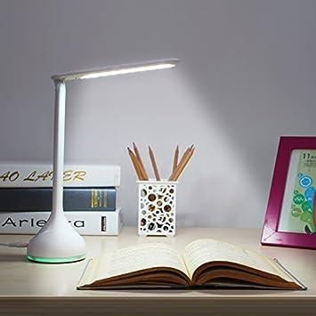 Amzdeal Schreibtischleuchte + Nachtlampe 2 In 1 Touch Dimmer Mit 18 LED  Leuchten Tischlampe