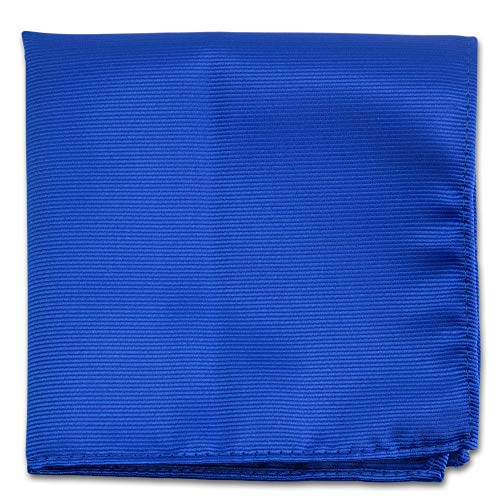 Royal Blue Pocket Squares For Men - Mens Woven Pocket Square Tuxedo Wedding Solid Color Formal Handkerchiefs