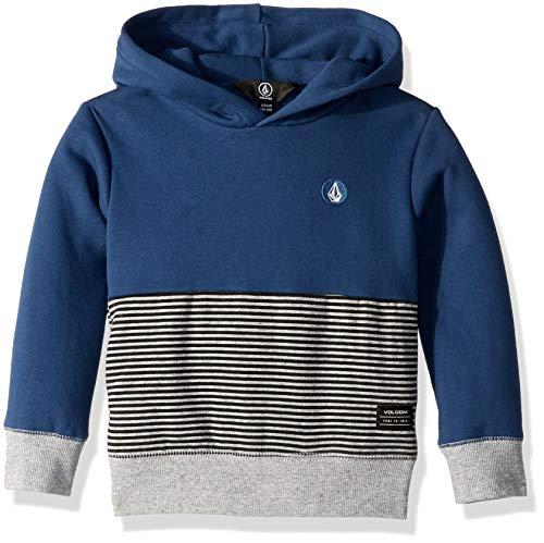Volcom Little Boy's Maddock Pullover Hooded Sweatshirt, LTWT Vintage, 7