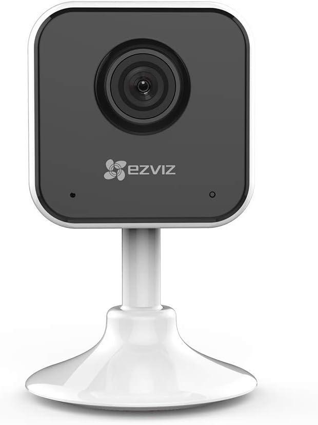 EZVIZ C1mini 720P Caméra de Surveillance Wifi Intérieure, Caméra de Sécurité, Vision Nocturne, Audio Bidirectionnel, Détection de Mouvement, Zoom 8X, Compatible avec Alexa, Google Home, Ifttt