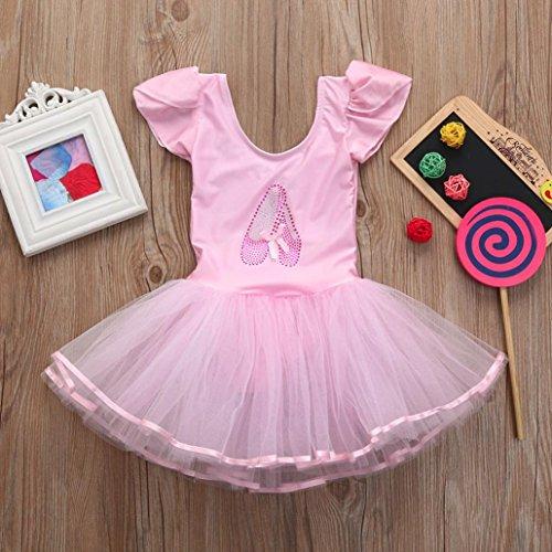 424281b87809 Goodlock Toddler Kids Fashion Dress Girls Gauze Leotards Ballet Bodysuit  Dancewear Dress Clothes Outfits