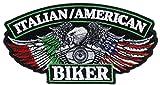 the italians americans - Italian American Biker 3x5 inch Iron On Patch HTL20760