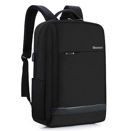 BestoU Zaino Porta Computer 15.6 Pollici antifurto Zaino per pc Backpack  Laptop Impermeabile con USB (Black)  Amazon.it  Informatica c8ac08e8e85