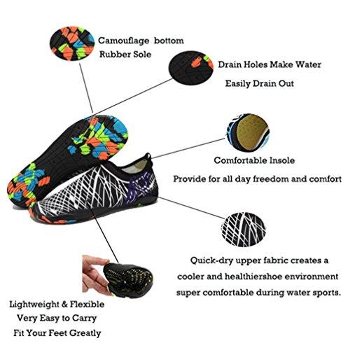Chaussures d'extérieur spécial Weiß Schwarz IceUnicorn Femme Piscine Plage pour dgqAx5