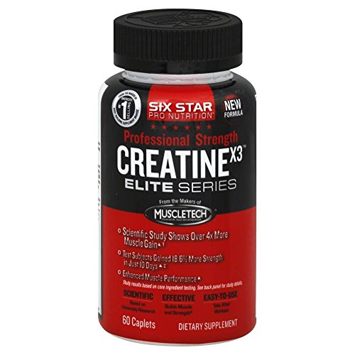 NEW!!! Muscletech Six Star Pro Nutrition Creatine X3 Elite S