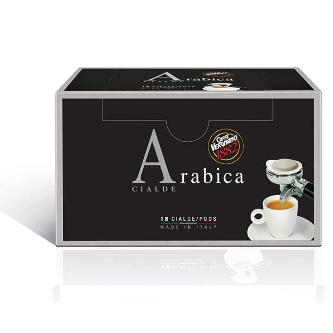 99 opinioni per Caffe' Vergnano 1882 Cialde Arabica- 6 confezioni da 18 cialde (tot 108 cialde)