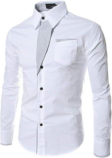 Camiseta Ajustada De Manga Larga para Hombres De Camisa Negocios Ocasional para Hombres Camisa Suave Y Cómoda para El Ocio Camisas De Color Sólido Camisa De Hombre Moderno En 10 Colores: Amazon.es: