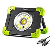 Sunix 20W Portable LED Work Light, LED Emergency Lights, Spotlight Camping Light, 1500LM 6000 mAh Built-in Rechargeable Batteries with Dual USB Port and Emergency SOS Mode