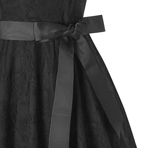 Robe Noir Dance Manche Chic Crmonie Vintage Aniversaire CASTLE Demoiselle Costume de sans Soire Femme Club IBTOM Cocktail Mariage en Prom Moulante Plage Sexy dEt Dentell Robe d'honneur Bal Fte fgEwqnx