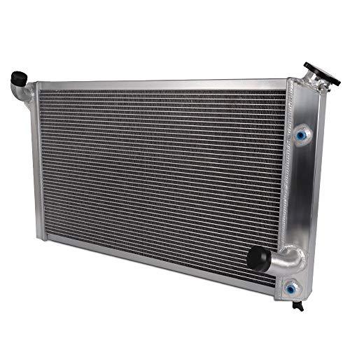 Full Aluminum Performance Radiator For CHEVY CORVETTE V8 5.7/7.4 1973-1976 74 75 Silver