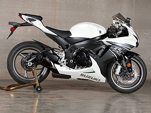 11-16 SUZUKI GSXR600 & 750: M4 GP Series Slip-On Exhaust - Black (BLACK)