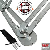 New Version Angle-izer Template Tool | Premium Grade Stainless Steel | General Multi-angle Measuring Ruler for Handymen Builders Craftsmen Carpenter Flooring Tiling & Much More | by Alpha-One Sellers
