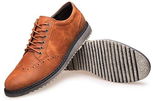 Oxford vestido zapatos para men- formalmente cuero Zapatos - casual clásico para hombre shoes- la de los hombres rizo tallada zapatos Yellow