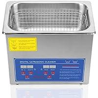 HFS (R) limpiador ultrasónico digital de grado comercial – acero inoxidable (3L-0.8GAL)