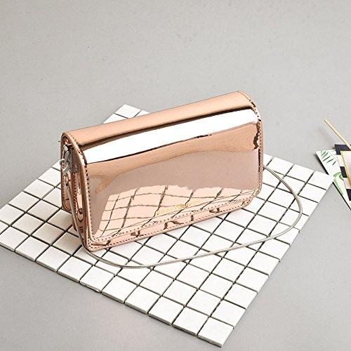 WSLMHH Sac Messenger épauleDames Sac àMain deMode Sauvages Petit Paquet carré chaîne Sac Messager Or émaillé