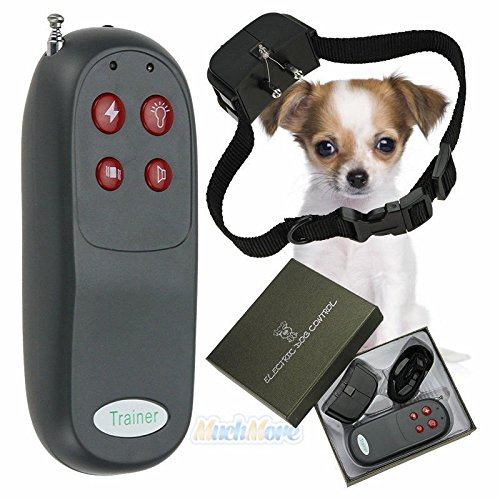 4 In 1 Remote Small/Med Dog Training Shock Vibrate Collar Trainer Safe For Pet (Snapper Sofa)