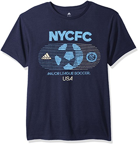 fan products of MLS New York City FC Adult Men Soccer World Tri-Blend S/Tee,2X-Large,Navy