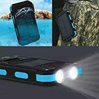 Waterproof 300000mAh Dual USB Portable Solar Battery Charger Solar Power Bank KB
