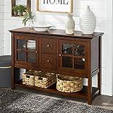 Walker Edison Wood Console Table, 52 Inch, Walnut