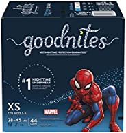 Goodnites Bedtime Bedwetting Underwear For Boys, Xs, 44 Count (Packaging May Vary)