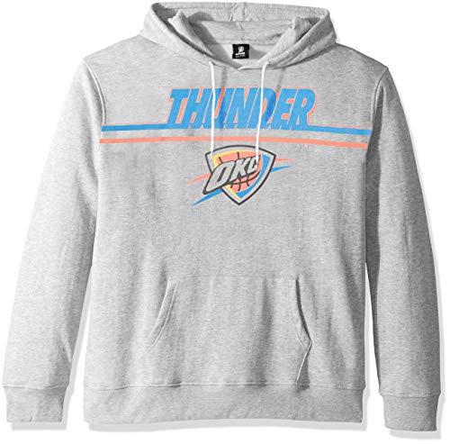UNK NBA Adult Oklahoma City Thunder Men's Fleece Hoodie Pullover Sweatshirt Out of Bounds, Gray, Medium ()