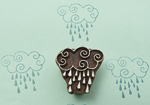 Blockwallah Rainy Day Wooden Block Stamp