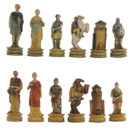 Yiwu-Hanjing Trojan War Hand Painted Polystone Chess Pieces ()