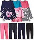 Gerber Graduates Baby Girls' 10 Piece Season In a Box, 6/Tops 4/Legging, Multi, 24 Months
