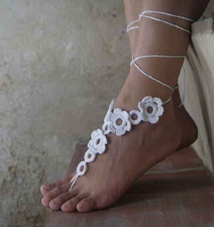 Beach wedding barefoot sandal crochet recommend you