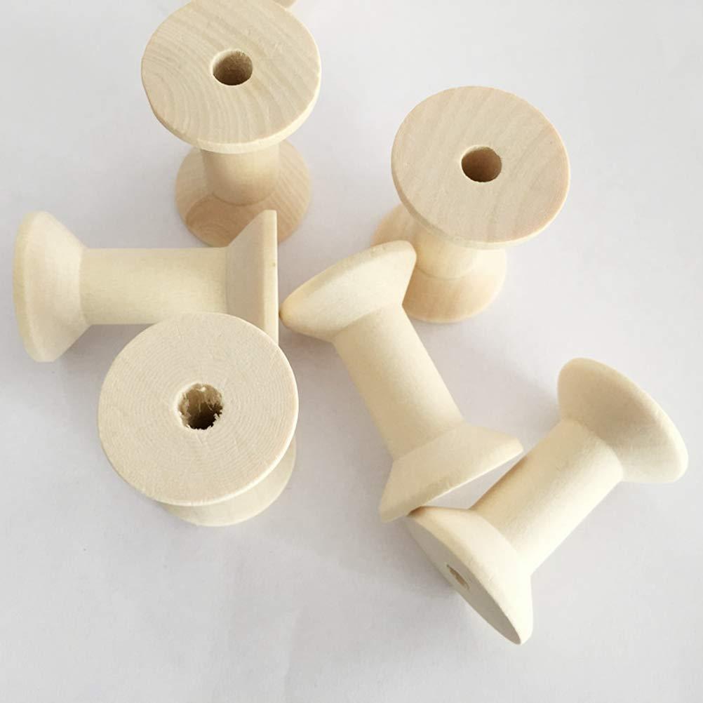 SUPVOX 50pcs vintage carretes de madera sin terminar carretes de hilo vac/ío para coser diy manualidades 4 cm