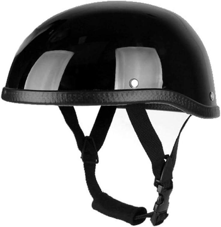 qiuxiaoaa Casco de Moto Casco Cascos de Media Cara Vintage Sombrero de Seguridad Retro Casco Protector de Cabeza Blanco