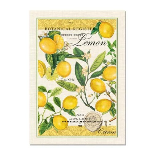 - Michel Design Works Lemon Kitchen Towel, Natural Woven Cotton