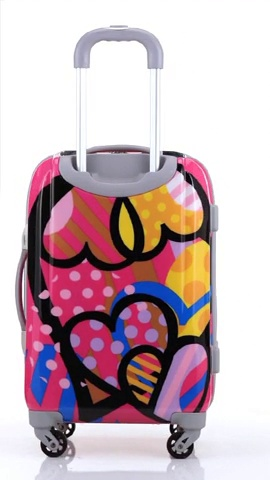 Rockland Vision Hardside Spinner Wheel Luggage, Love, Carry-On 20-Inch