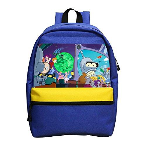 Bender Futurama Turanga Leela Thematic Mini Backpack Kid Bag Unisex Children Bag