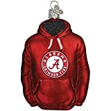 Mouth-Blown Glass College Hoodie Keepsake Christmas Ornament - Alabama