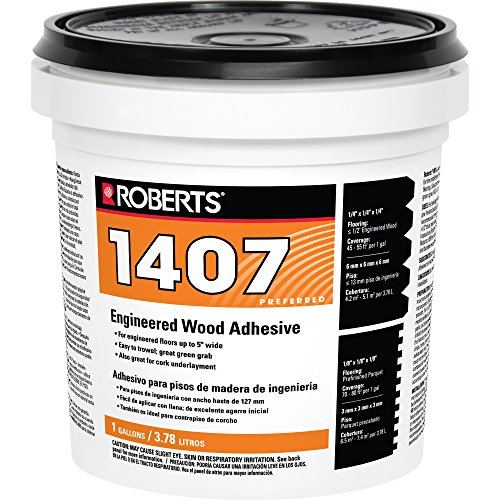 Roberts 1407-1 Engineered Wood Flooring Adhesive Glue, 1 Gallon - Glue Engineered Floor