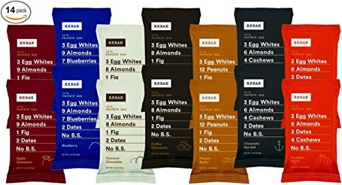 RxBar Protein Bar 14 Pack - Minimal Ingredients That Are All 100% Real Food w/ No Processed Fillers (Variety) by RXBAR by RXBAR