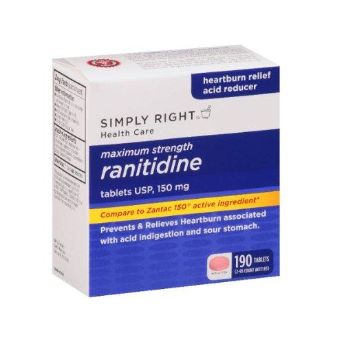 Tout simplement droit effectif Maximum Ranitidine acide réducteur, comte 190