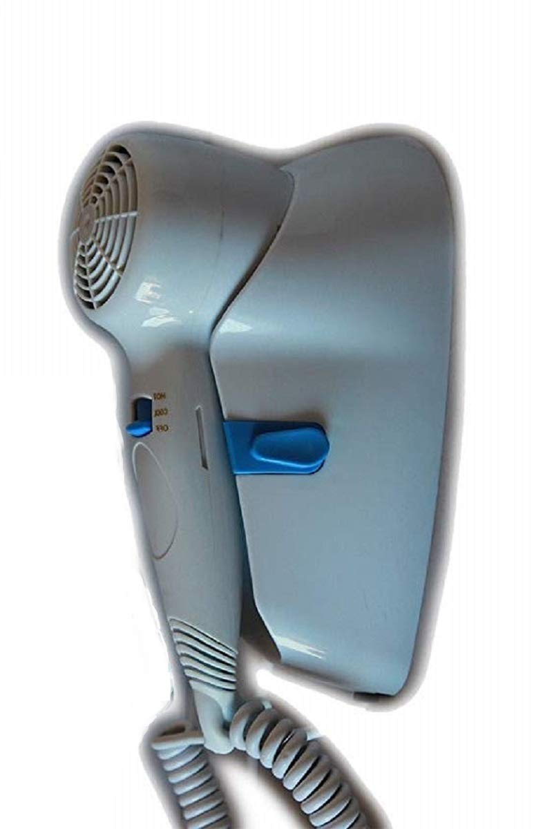 Secador de pared de 1300 W con botón de seguridad de encendido/apagado y 2 velocidades, montaje en pared, ideal para hoteles, albergues, vestuarios o ...