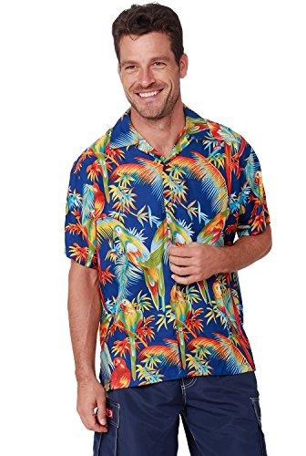 Men's Hawaiian Shirt Button Down Casual Aloha Shirt Short Sleeve Beach Shirts