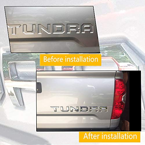 Chrome Emblem for Toyota Tundra 2014-2019 Tailgate Insert 3D Metal Letters Toyota Tundra Accessories Not Decal Sticker