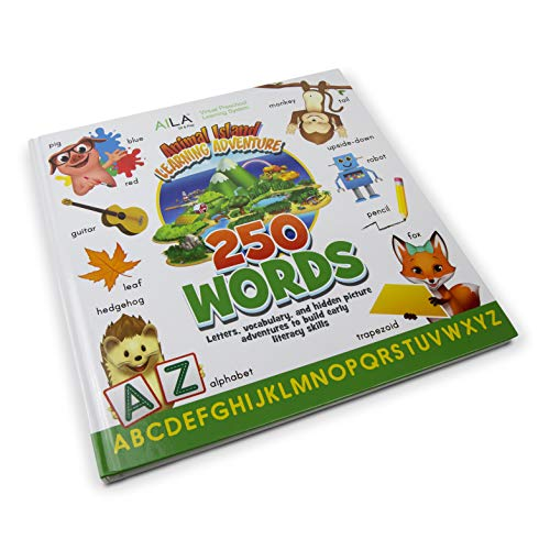 ANIMAL ISLAND Learning Adventure AILA Pre-K 250 Words Book – Pre-K Learning System Kindergarten Readiness, Vocabulary…