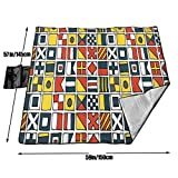FGOH-9 Pen and Ink Maritime Pangram Picnic Blanket
