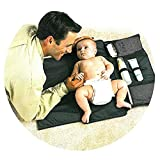 #7: Artempo Diaper Changing Pad Clutch, Portable Diaper Changing Mat for Baby, Easy to Use for Camping, Travel, Shopping (Black)