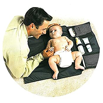 Artempo Baby Diaper Changing Pad Clutch, Foldable& Portable Diaper Changing Mat for Camping, Travel, Shopping (Black)