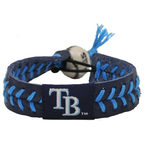 GameWear 4421400484 Tampa Bay Rays Team Color Baseball Bracelet (Devil Rays Baseball Team)