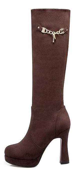 Easemax Damen Schick Mode Langschaft Overknee High Heels Stiefel Mit Absatz Schwarz 42 EU rFDjFLeE